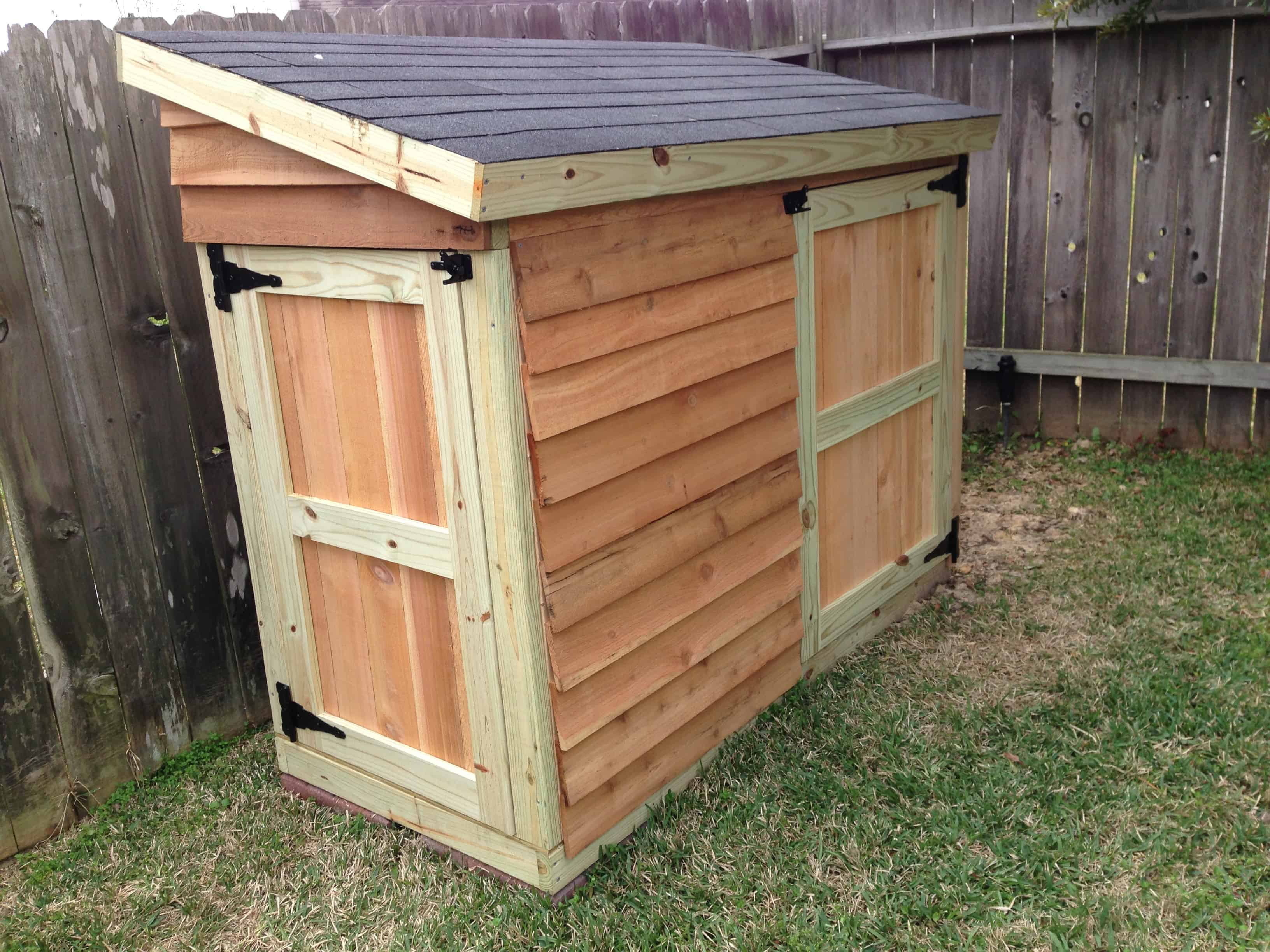 Small diy lawn mower shed