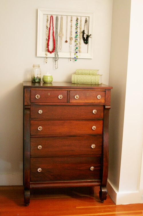 Stained reclaimed dresser