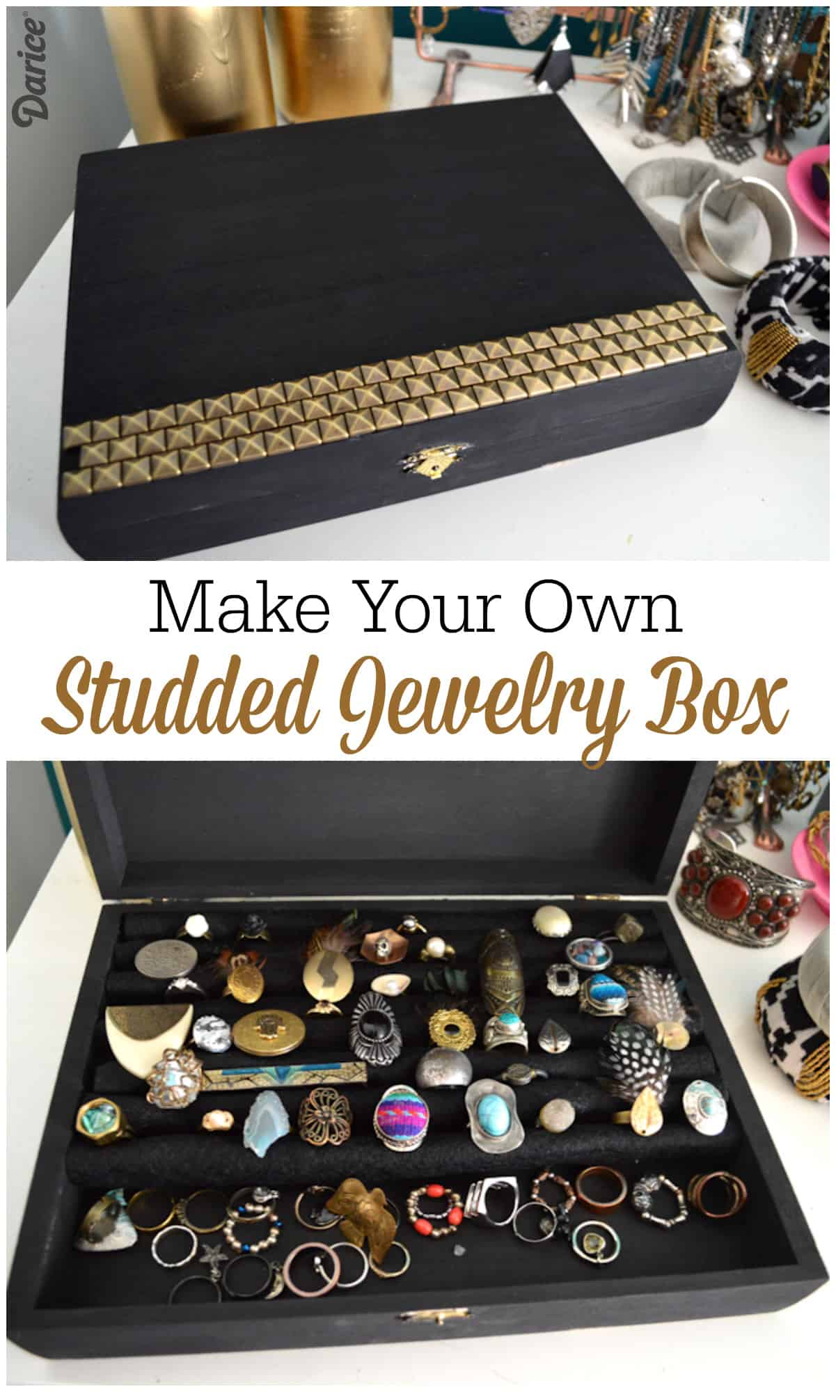 Studded jewelry box