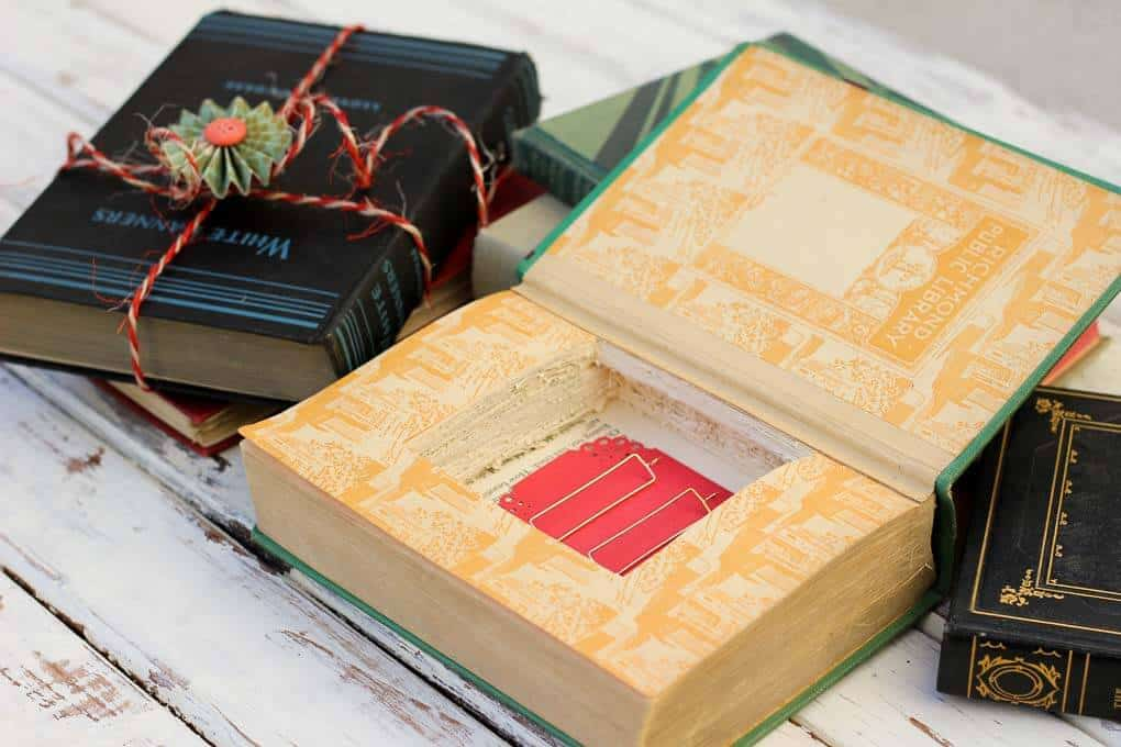 Thick vintage hard cover book box