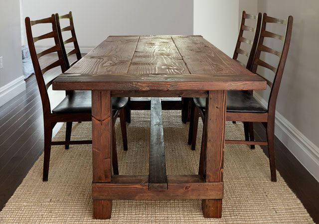 Three part rustic table
