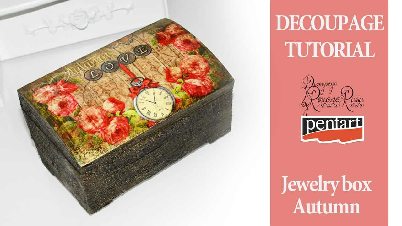 Vintage inspired decoupage jewelry box