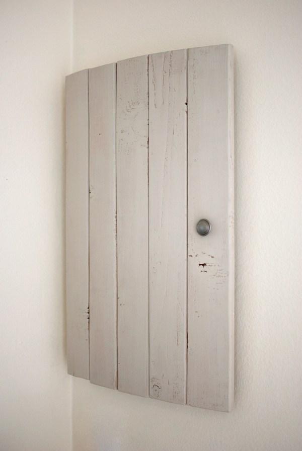Vintage wooden door cabinet