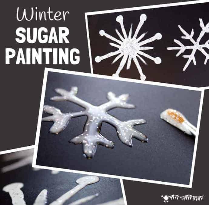 Winter sugar painting
