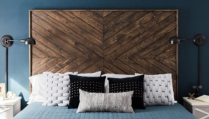 Custom chevron headboard diy