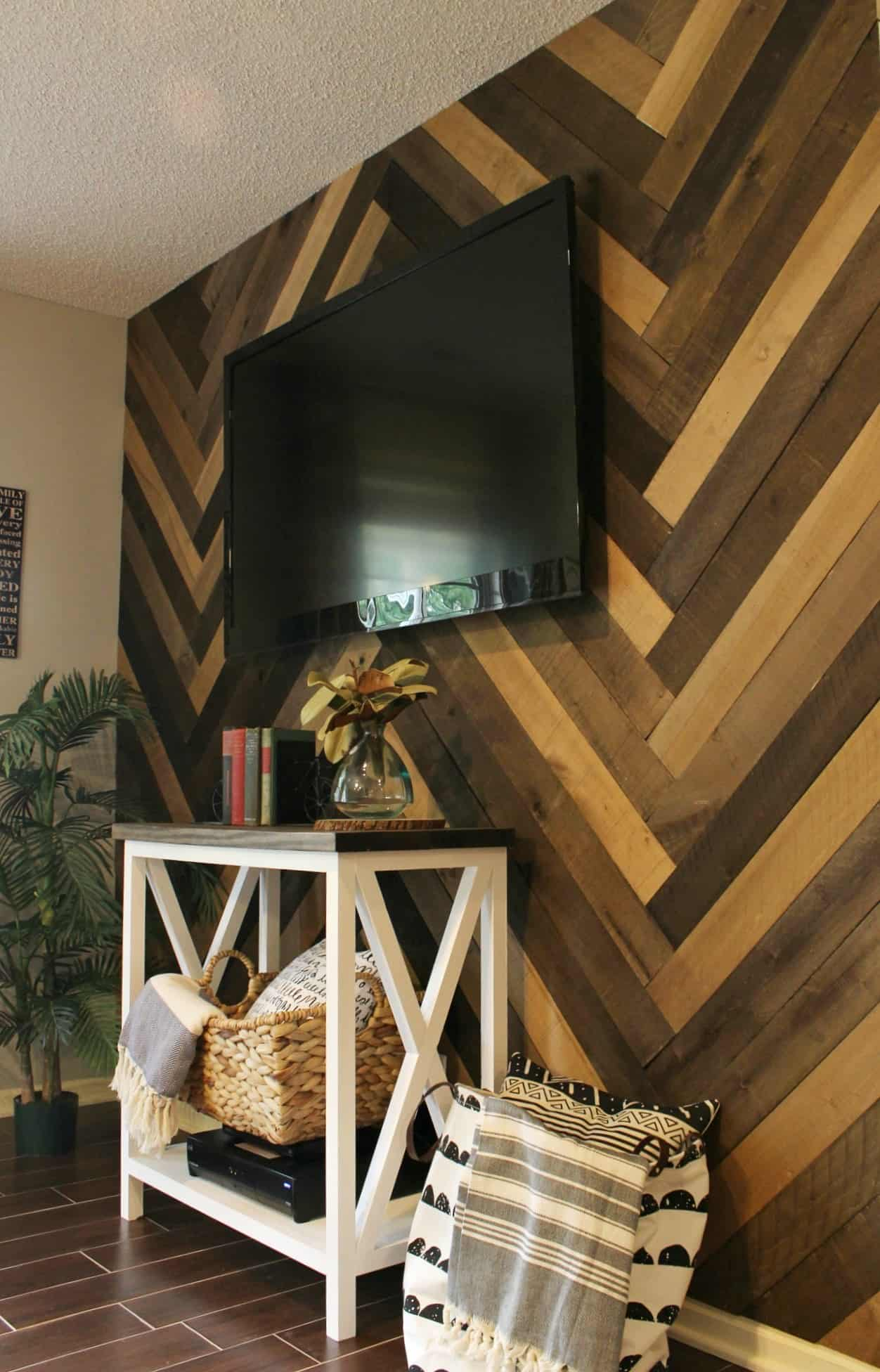 Diy barn wood wall