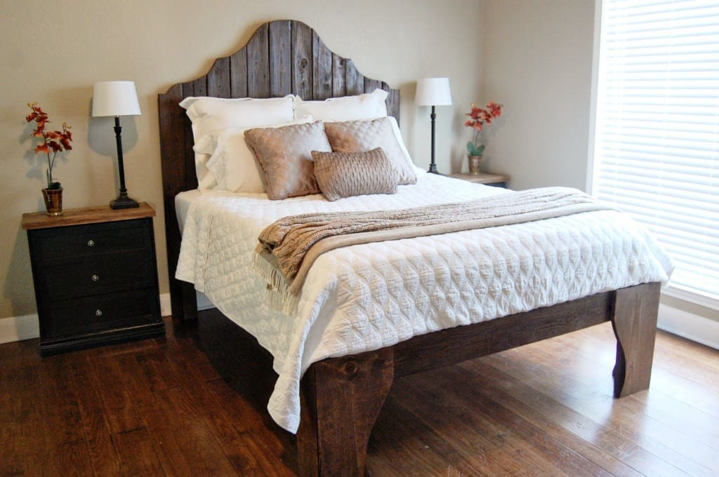 Diy curved wooden headboard