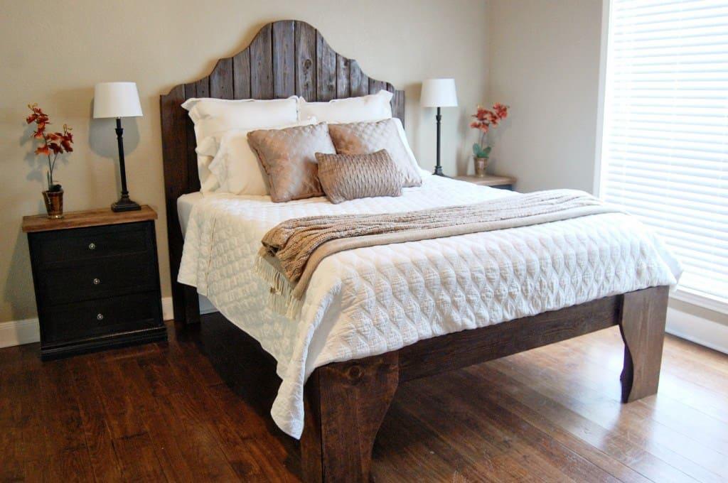 cabecera de cama curveada