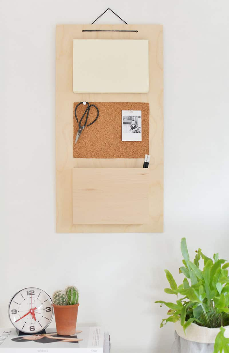 Diy desk organiser wall