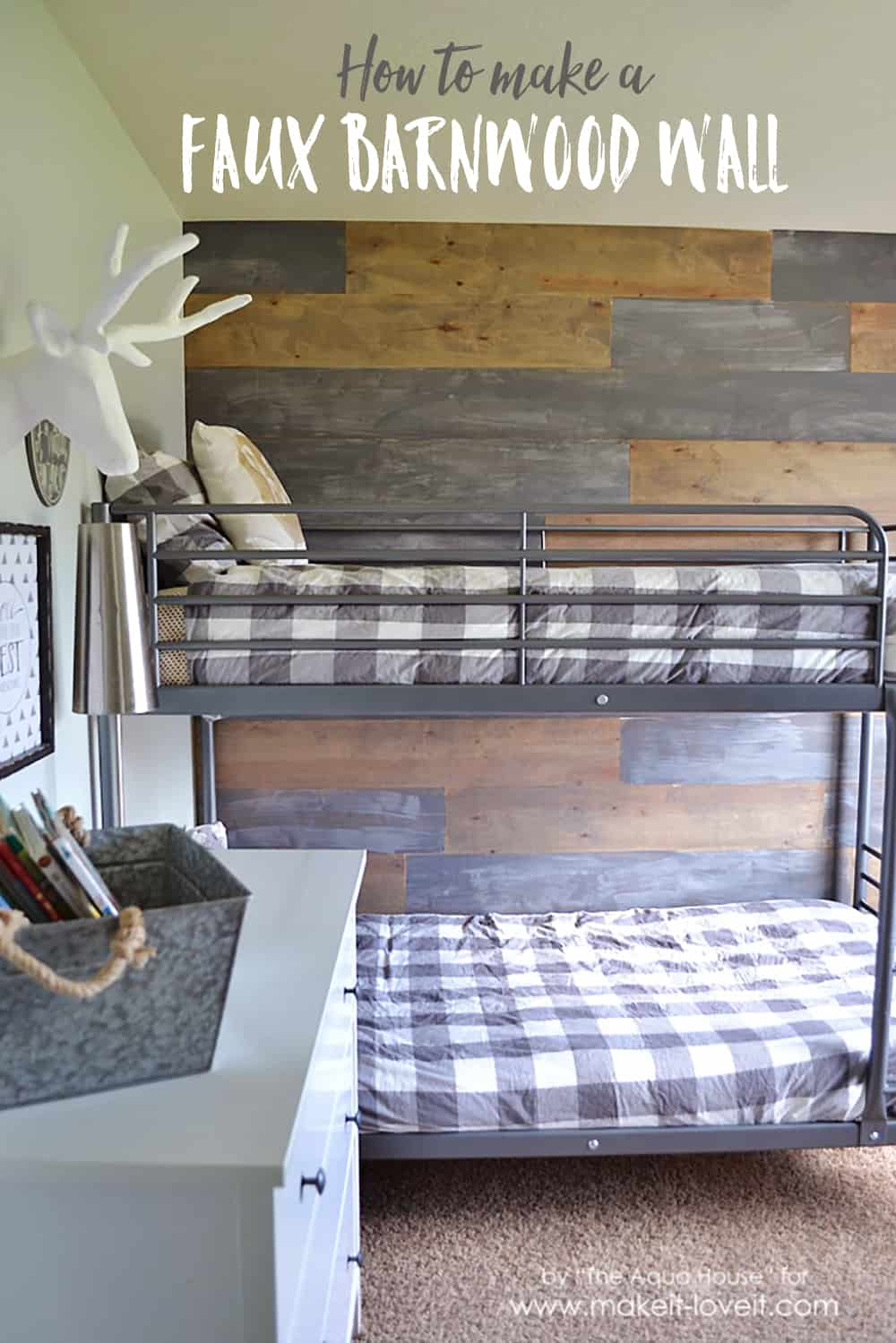 Diy faux barnwood wall