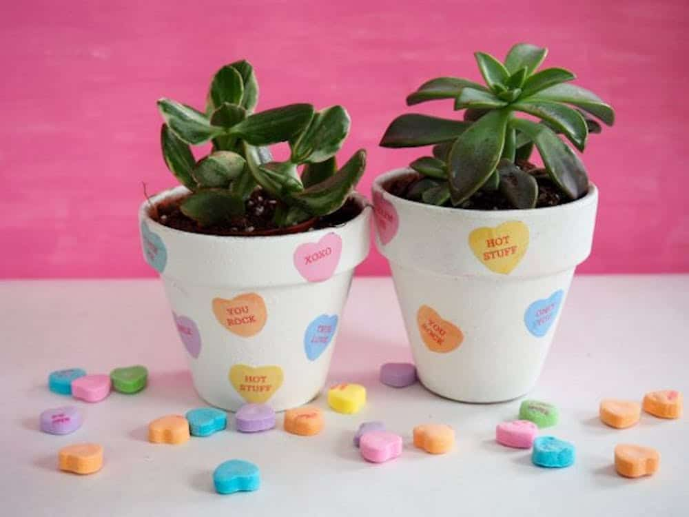 Diy heart candy pot