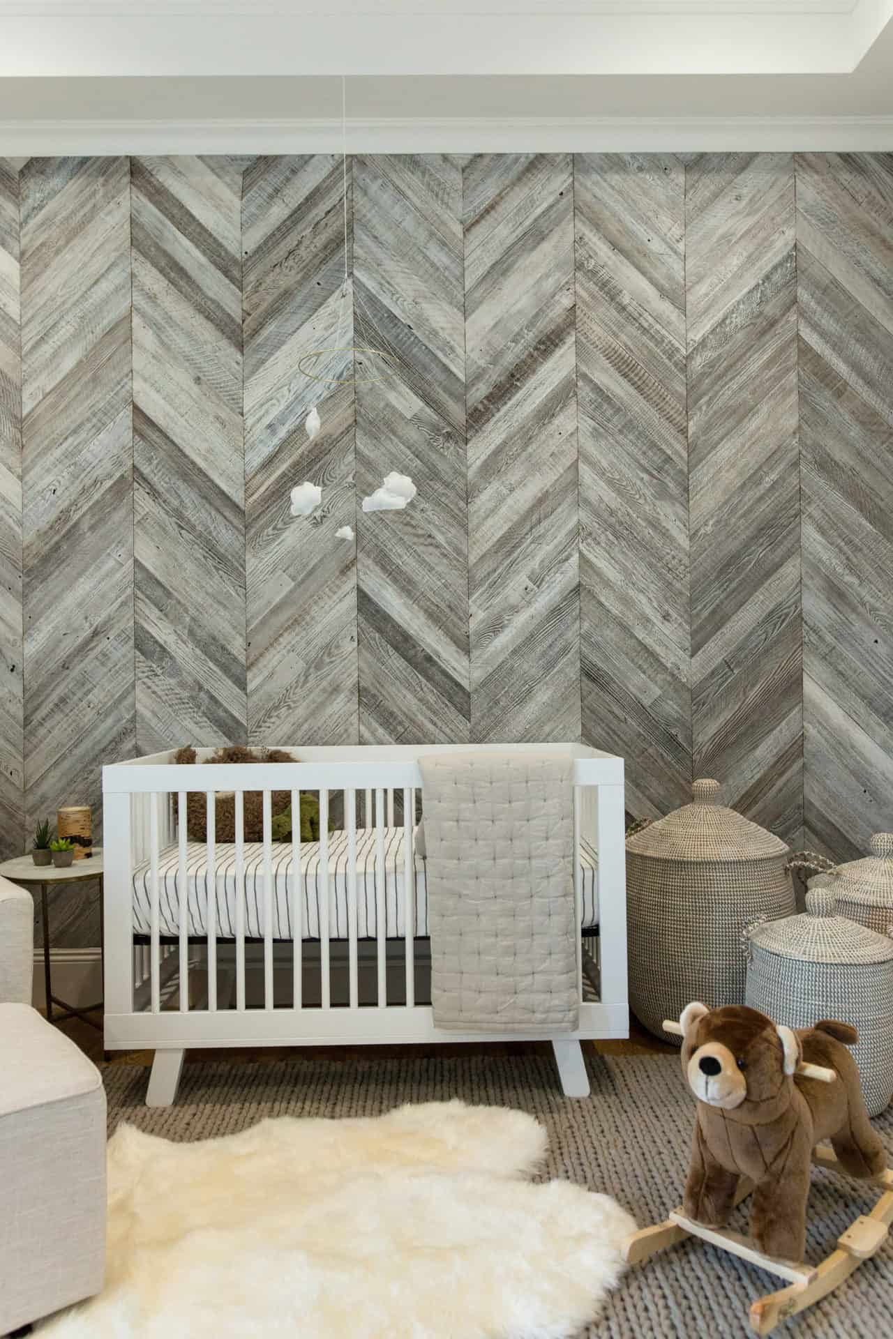 Diy herringbone wood wall