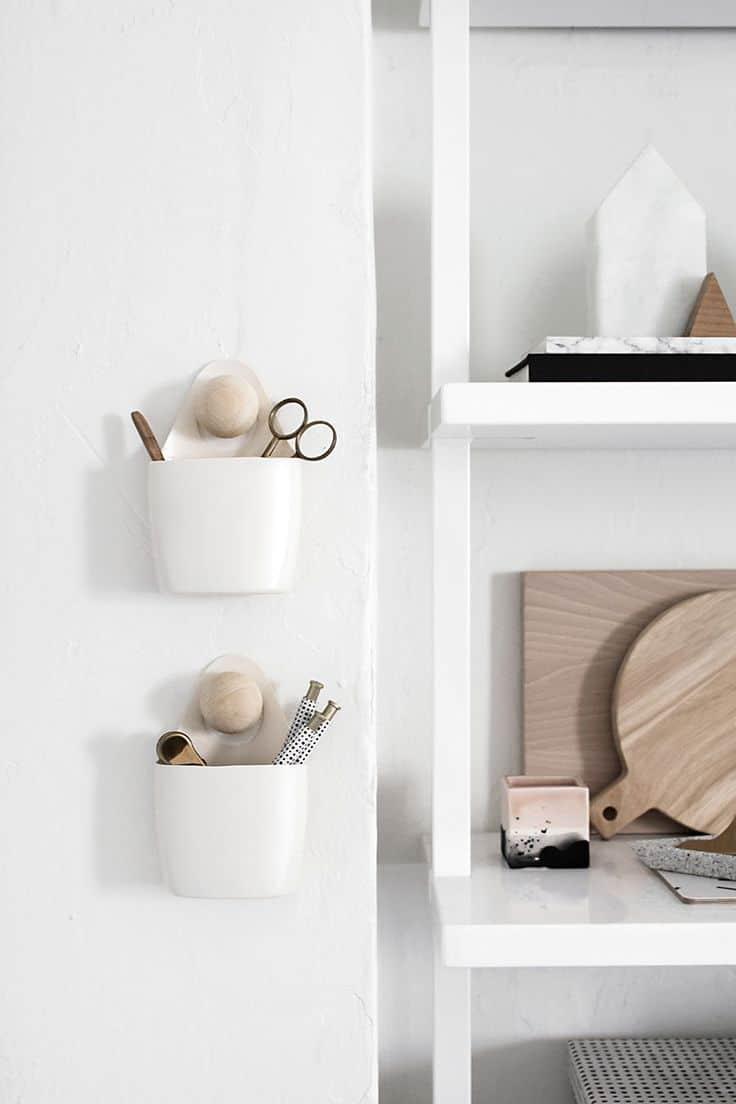 Diy modern hanging organizer cups