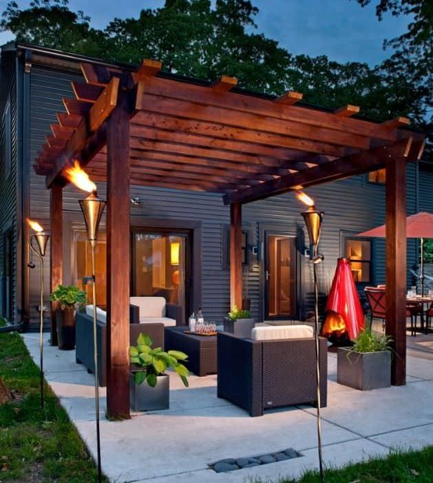 Diy modern wood pergola