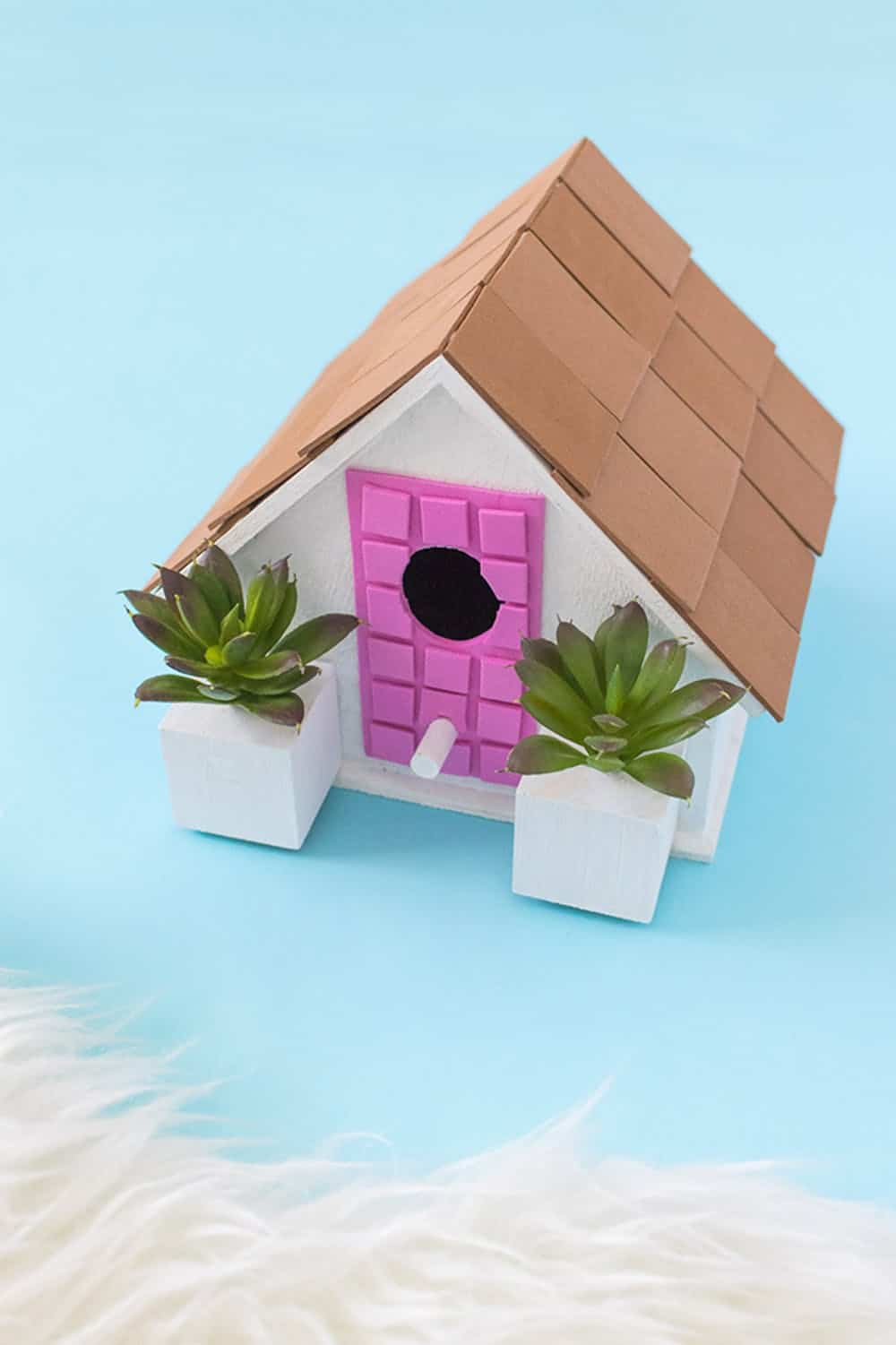 Diy palm springs birdhouse