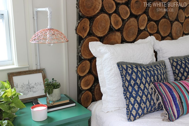 Diy round wooden headboard
