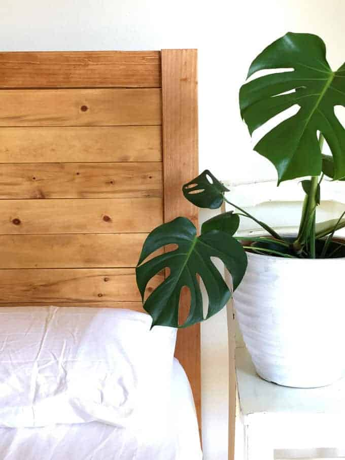 Diy simple wooden headboard