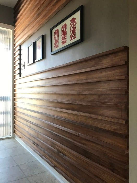 Diy slat wooden wall