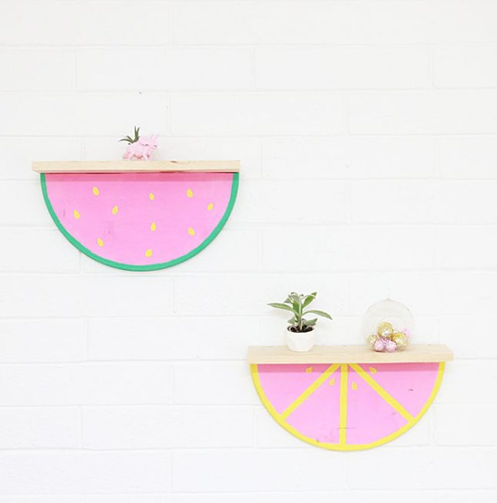 Diy watermelon shelf