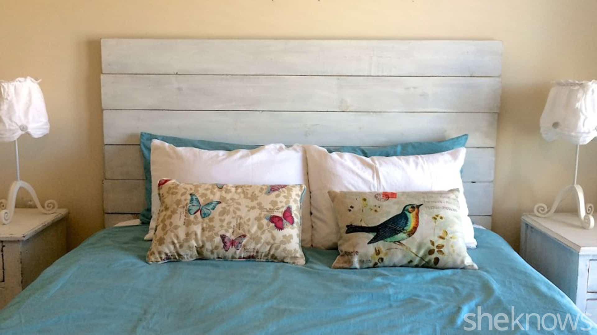 Diy white wood headboard