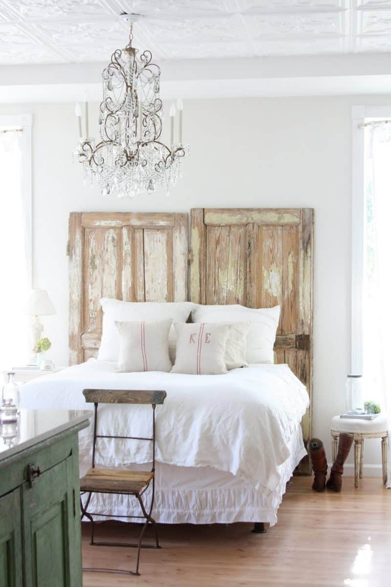 Double wood door headboard diy