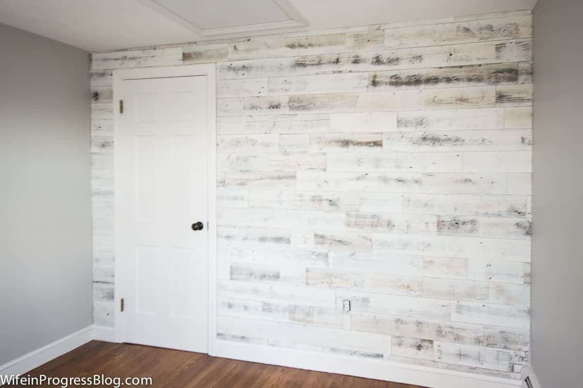 Light and bright diy wood wall
