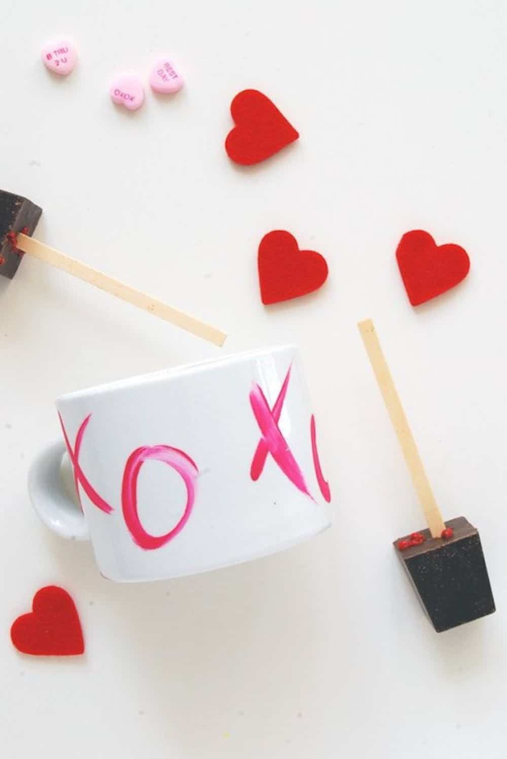Painted valentine's day mug diy