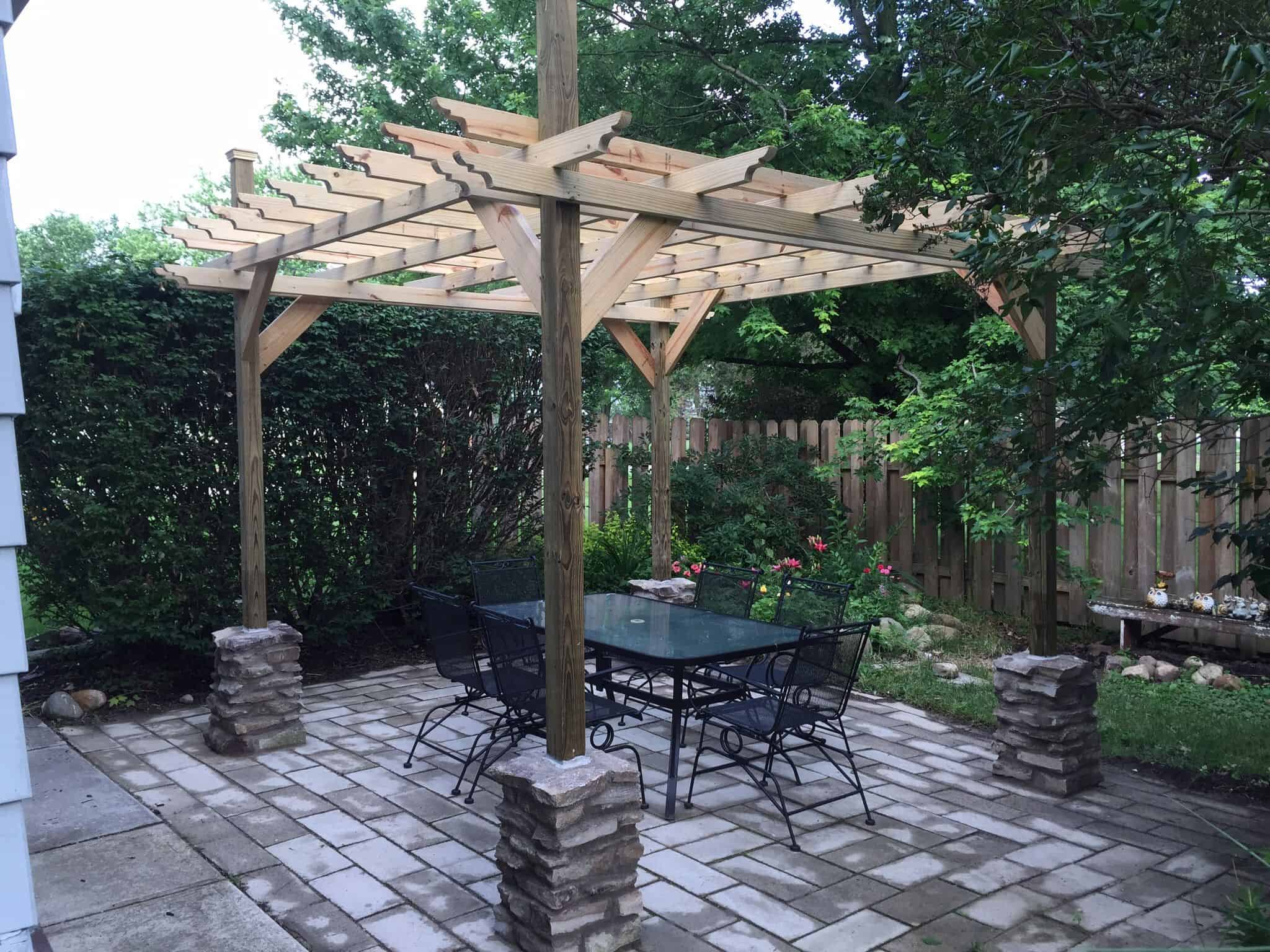 Pottery barn inspired diy pergola