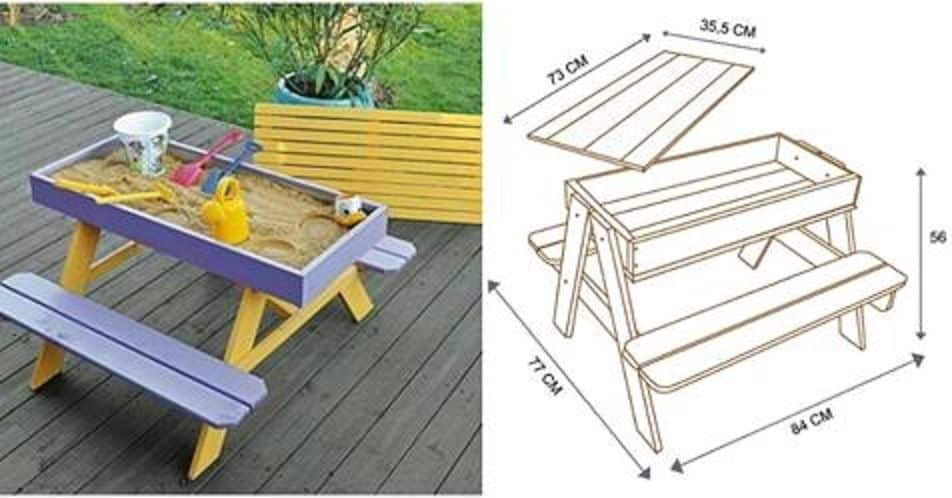 Sandbox picnic table