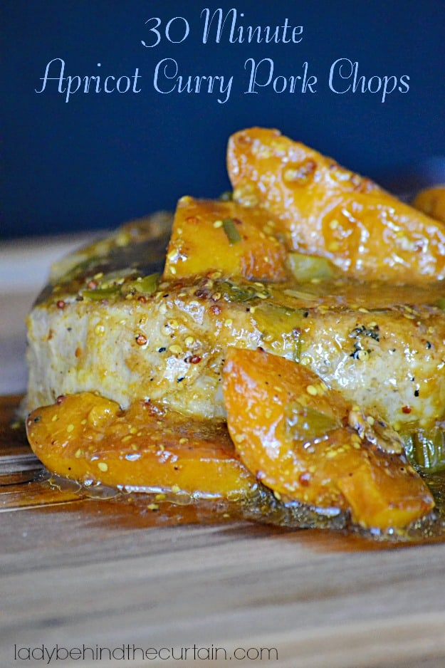 30 minute apricot curry porkchops