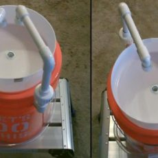 5 gallon bucket and pvc pipe camp sink