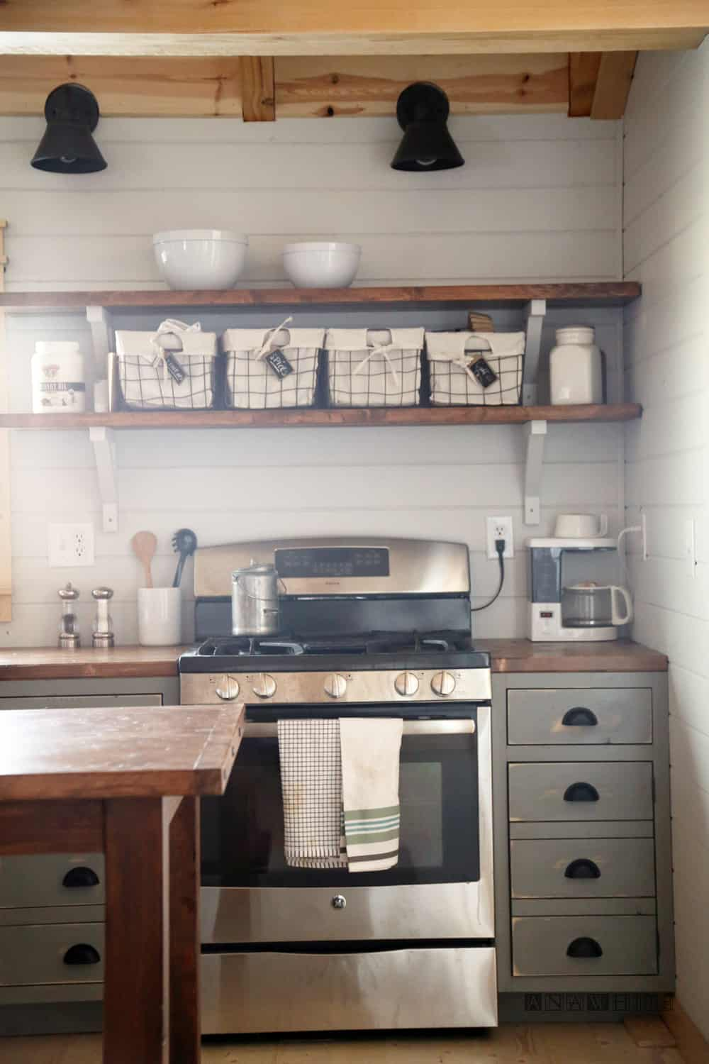 Apothecary style ktichen cabinets