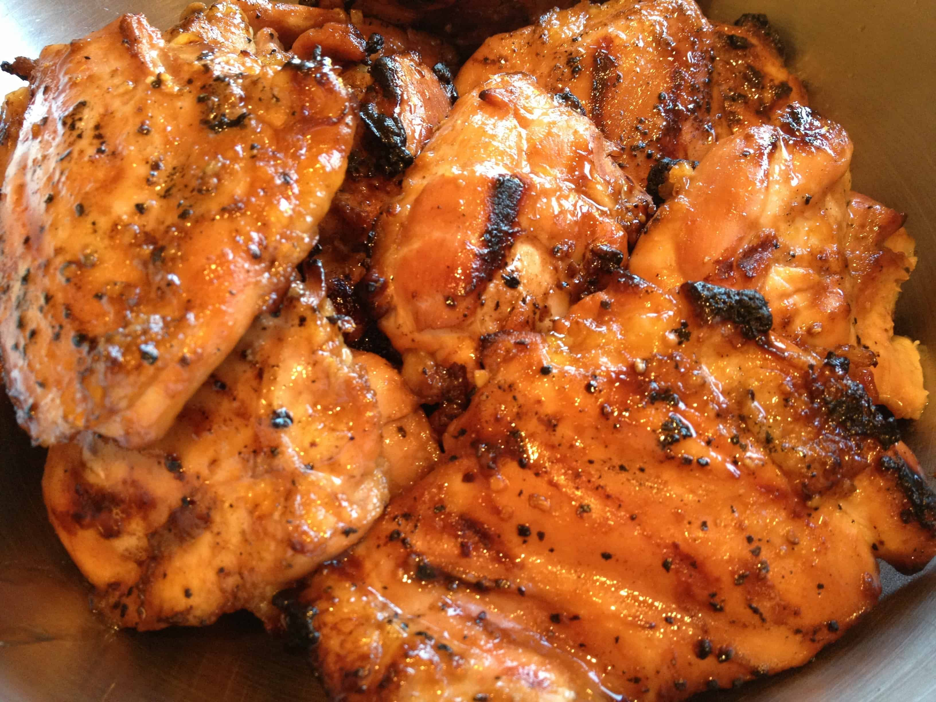 Asian glazed grilled chicken
