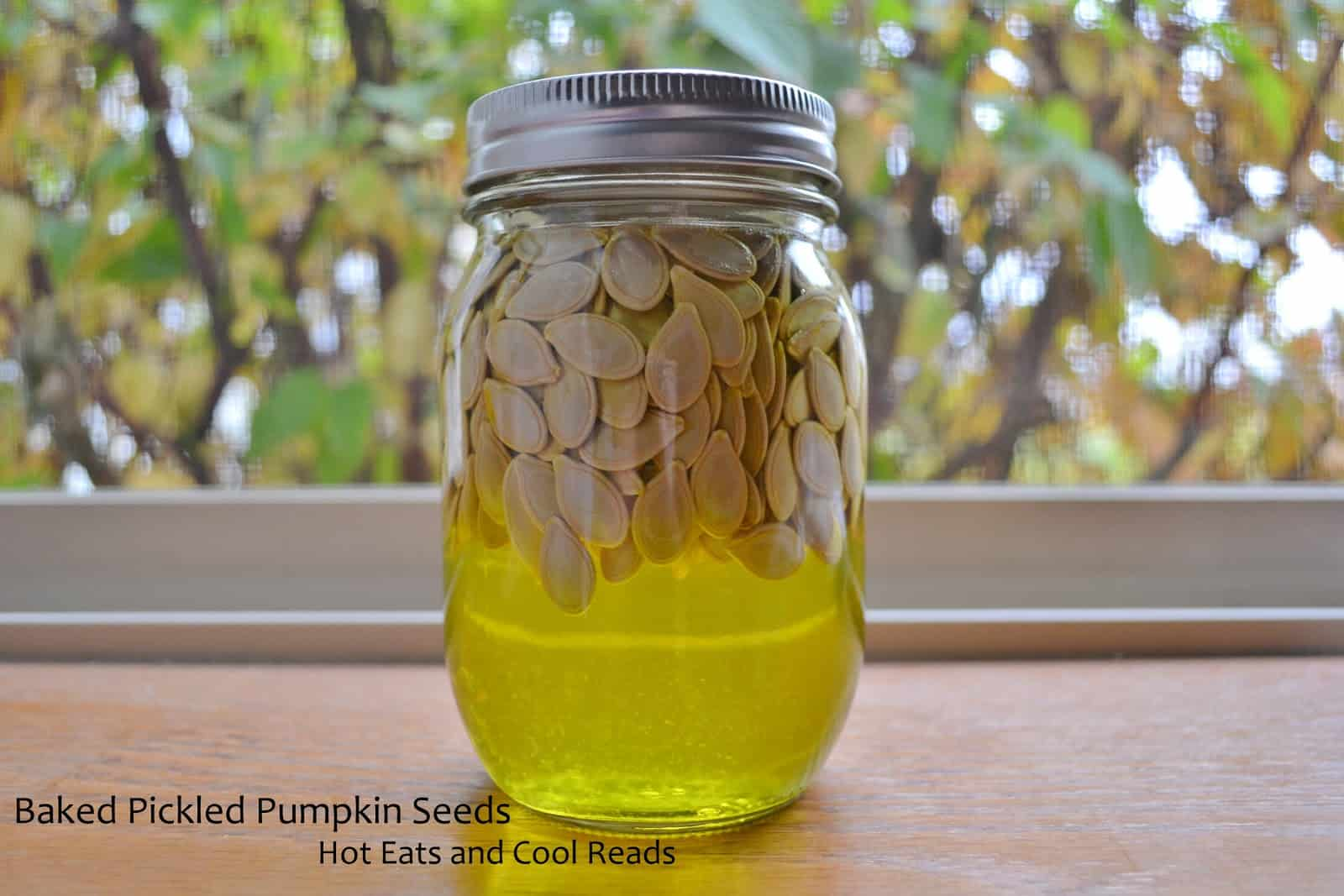 Baked pickled pumpkin seeds