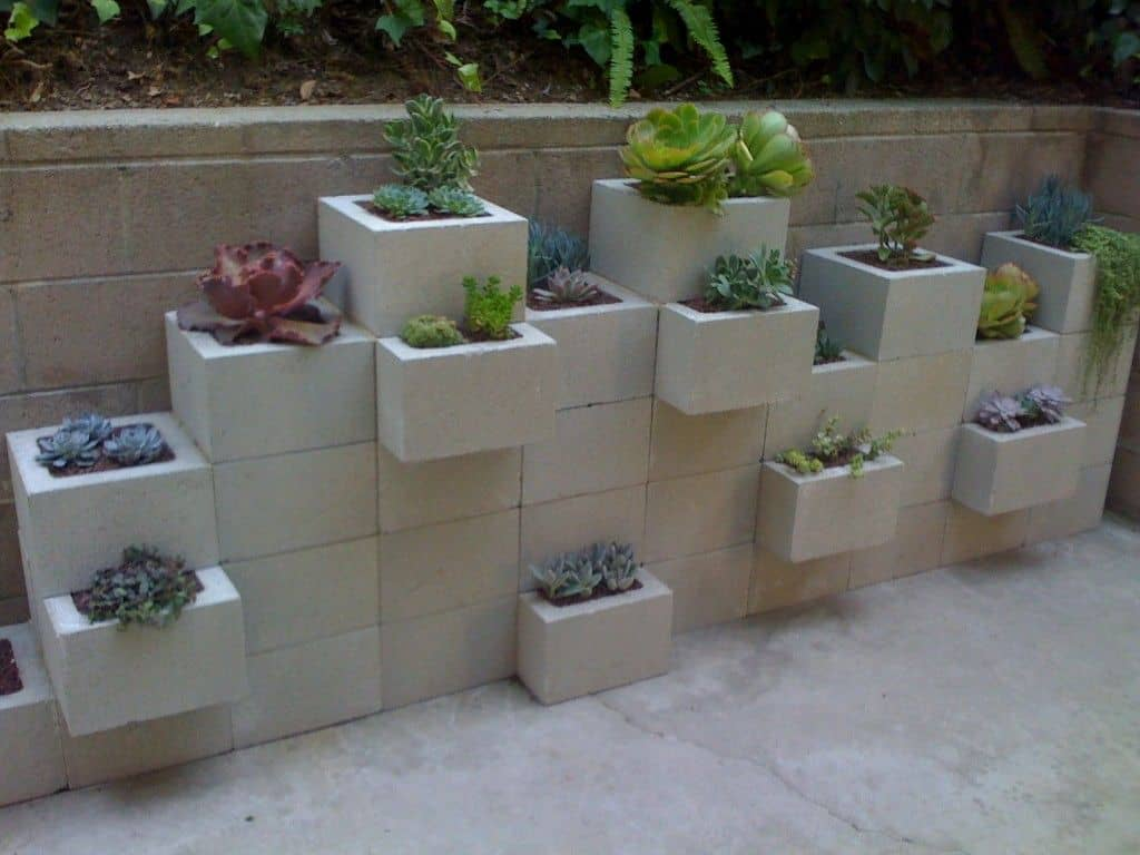 Build a cinder block wall garden