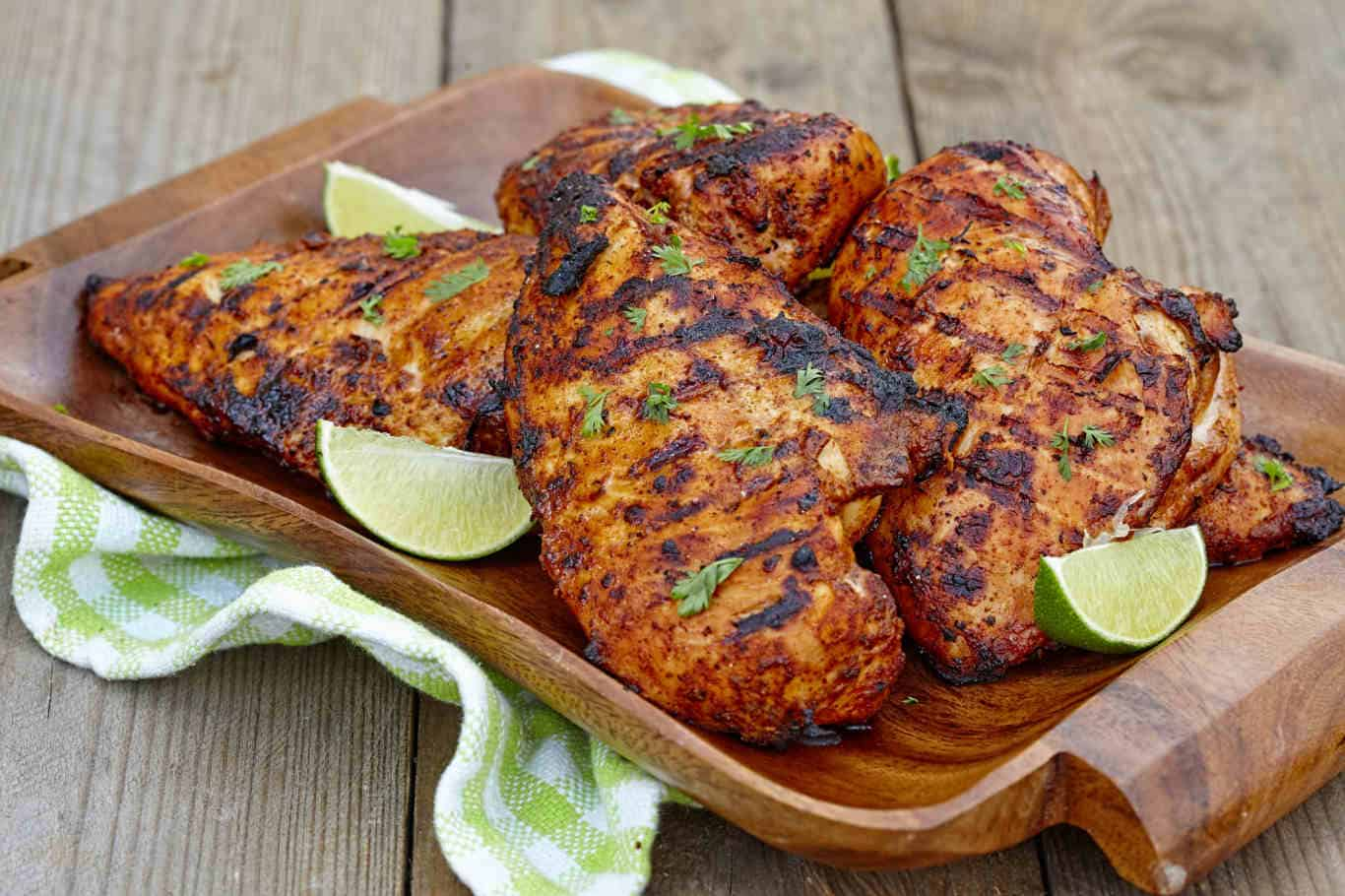 Caribbean grilled chicken