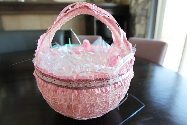 Cotton yarn easter baskets