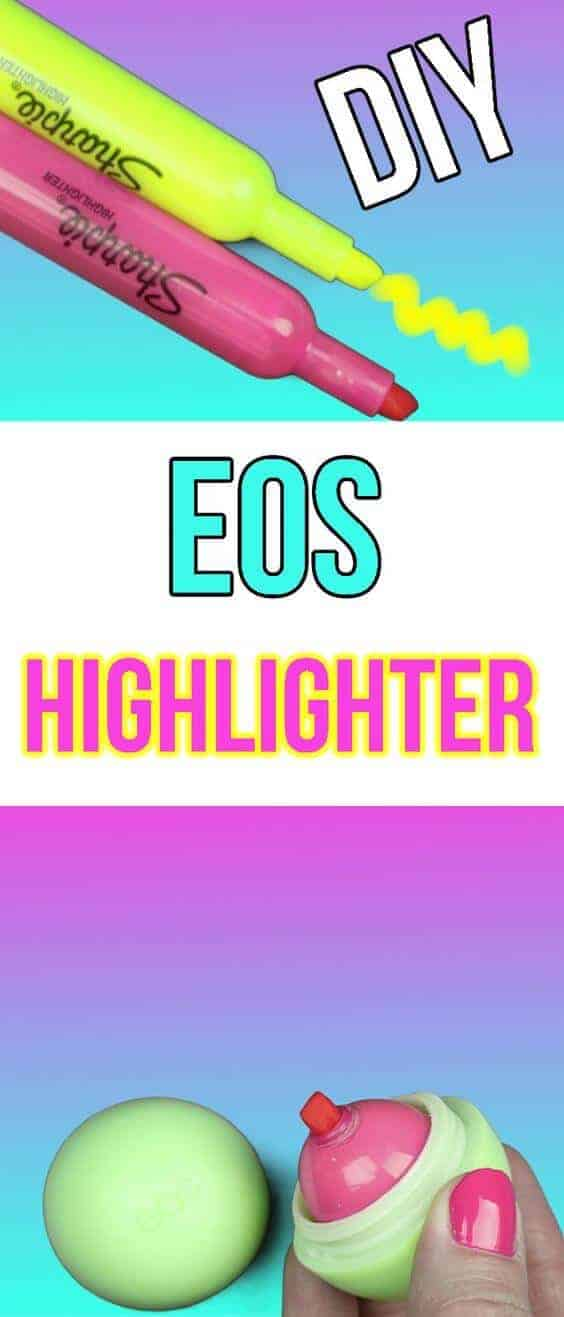 Diy eos lip gloss highlighter