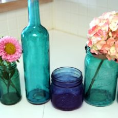 Diy hand tinted wine bottles