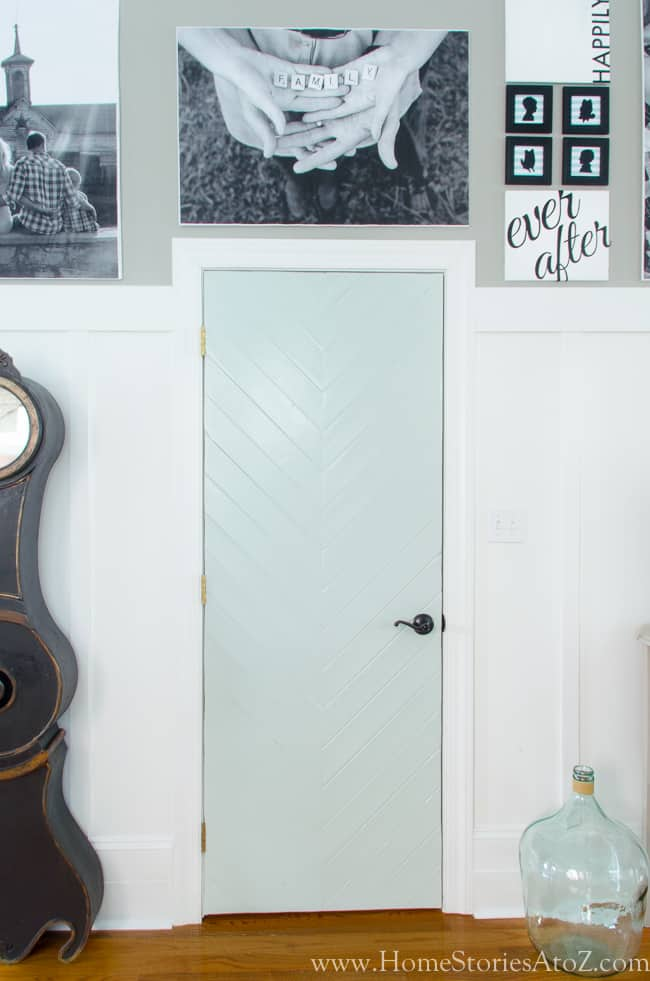 Diy herringbone door
