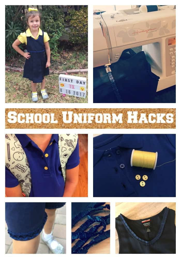 Diy school uniform hacks