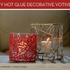 Decorative hot glue votive candles
