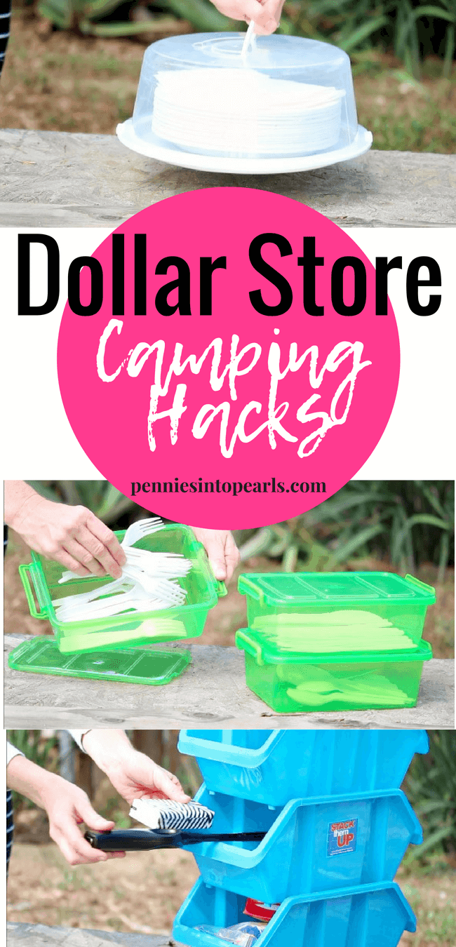 وان های فروشگاه دلار به عنوان محل نگهداری ظروف کمپینگ