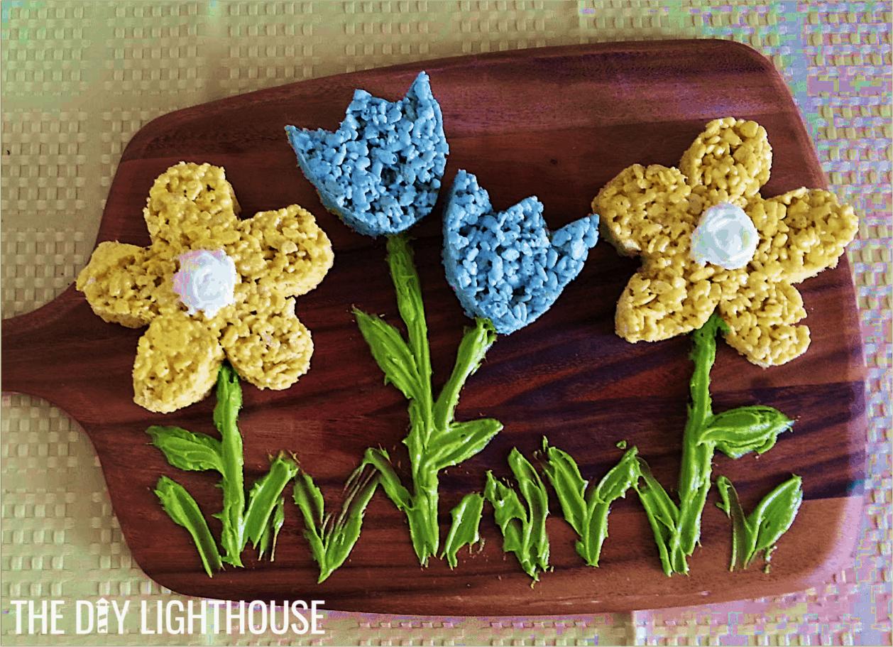 Easter flowers rice krispy treats