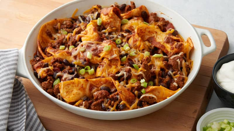 Easy beef burrito skillet
