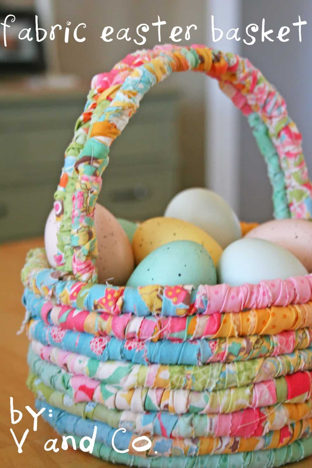 Fabric wrapped easter basket