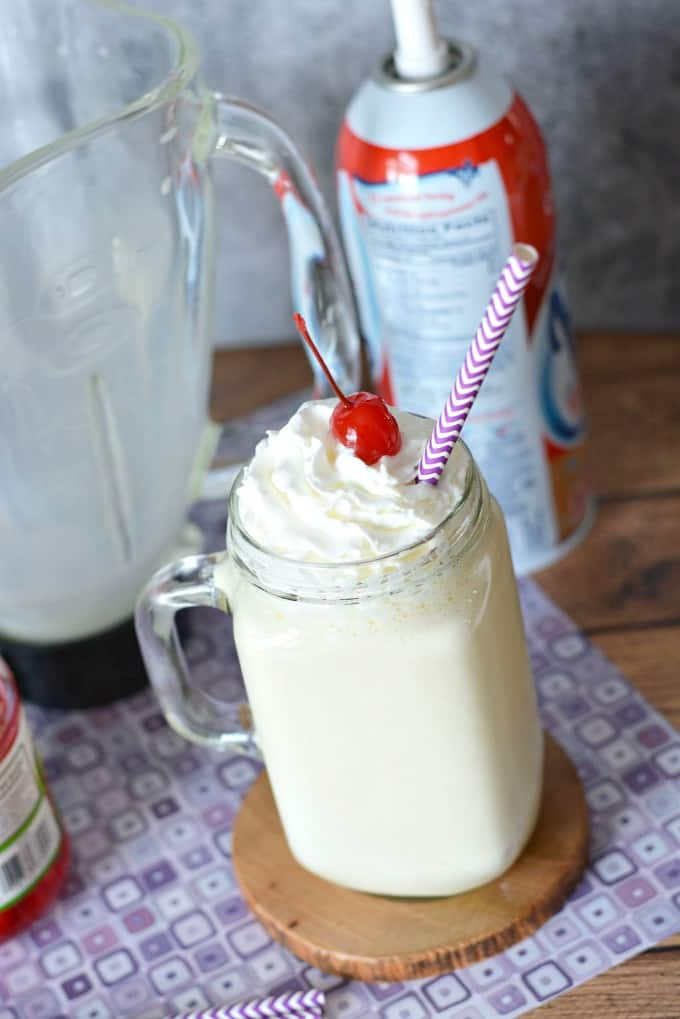 Homemade french vanilla milkshake