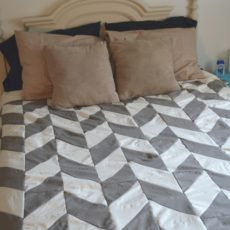 Homemade herringbone duvet cover