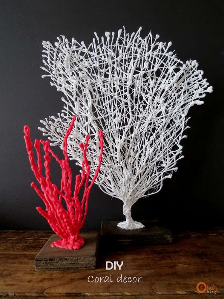 Hot glue decorative coral