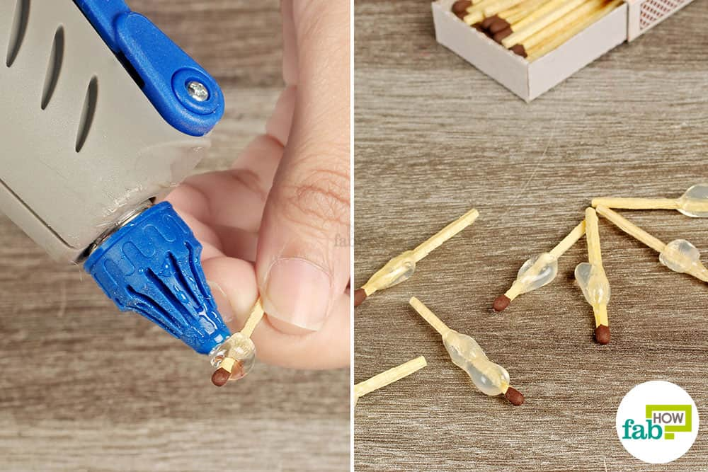Hot glue matches